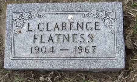 FLATNESS, L. CLARENCE - Bottineau County, North Dakota   L. CLARENCE FLATNESS - North Dakota Gravestone Photos