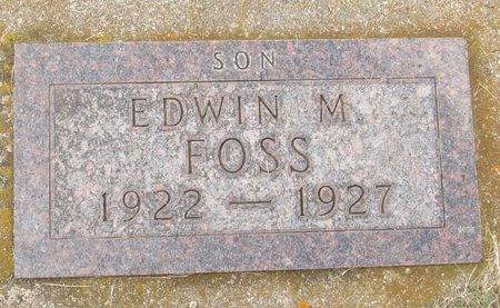 FOSS, EDWIN M. - Bottineau County, North Dakota | EDWIN M. FOSS - North Dakota Gravestone Photos
