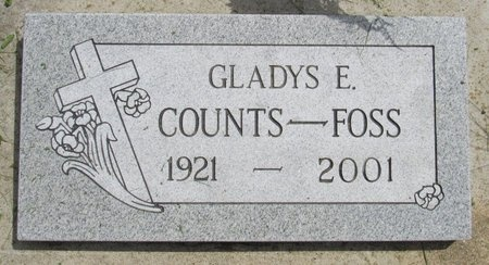 COUNTS FOSS, GLADYS E. - Bottineau County, North Dakota | GLADYS E. COUNTS FOSS - North Dakota Gravestone Photos