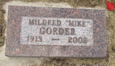 """GORDER, MILDRED """"MIKE"""" - Bottineau County, North Dakota 