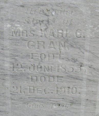 GRAN, KARI - Bottineau County, North Dakota   KARI GRAN - North Dakota Gravestone Photos