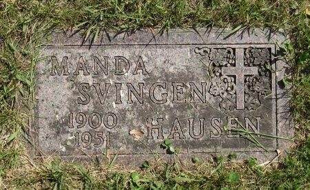 SVINGEN HAUSEN, MANDA - Bottineau County, North Dakota | MANDA SVINGEN HAUSEN - North Dakota Gravestone Photos