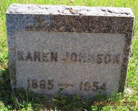 JOHNSON, KAREN - Bottineau County, North Dakota | KAREN JOHNSON - North Dakota Gravestone Photos