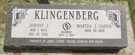 KLINGENBERG, JOHNNY J. - Bottineau County, North Dakota   JOHNNY J. KLINGENBERG - North Dakota Gravestone Photos