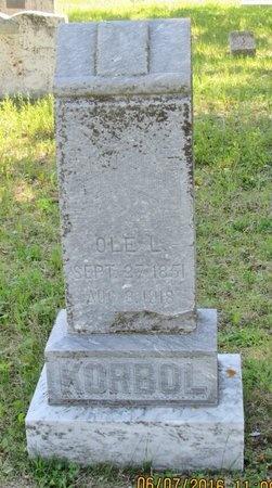 KORBOL, OLE L. - Bottineau County, North Dakota | OLE L. KORBOL - North Dakota Gravestone Photos