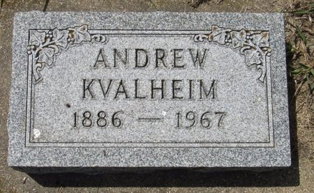 KVALHEIM, ANDREW - Bottineau County, North Dakota | ANDREW KVALHEIM - North Dakota Gravestone Photos