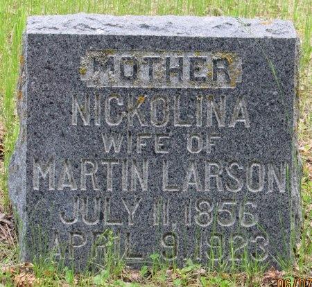 LARSON, NICKOLINA - Bottineau County, North Dakota | NICKOLINA LARSON - North Dakota Gravestone Photos