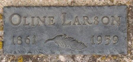 LARSON, OLINE - Bottineau County, North Dakota | OLINE LARSON - North Dakota Gravestone Photos