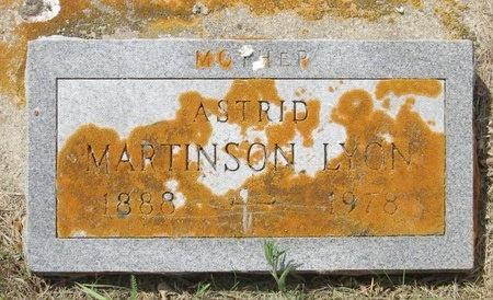 MARTINSON LYONS, ASTRID - Bottineau County, North Dakota | ASTRID MARTINSON LYONS - North Dakota Gravestone Photos