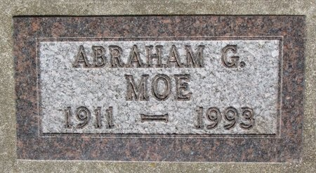 MOE, ABRAHAM G. - Bottineau County, North Dakota | ABRAHAM G. MOE - North Dakota Gravestone Photos