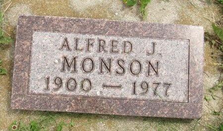 MONSON, ALFRED J. - Bottineau County, North Dakota   ALFRED J. MONSON - North Dakota Gravestone Photos