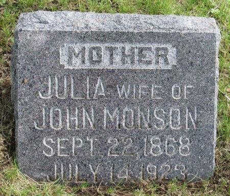 MONSON, JULIA - Bottineau County, North Dakota | JULIA MONSON - North Dakota Gravestone Photos