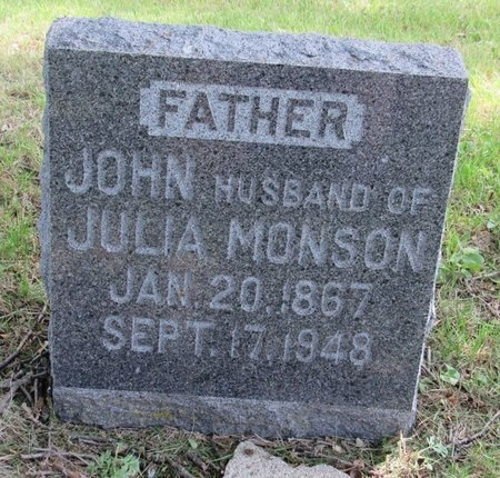 MONSON, JOHN - Bottineau County, North Dakota | JOHN MONSON - North Dakota Gravestone Photos