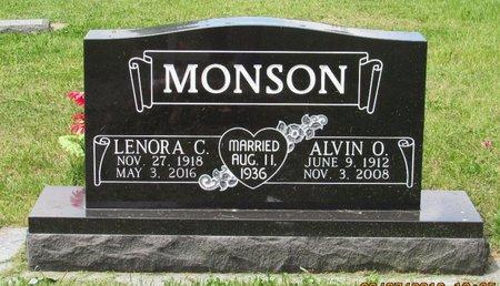 MONSON, ALVIN O. - Bottineau County, North Dakota | ALVIN O. MONSON - North Dakota Gravestone Photos