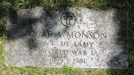 MONSON, OLAF A. - Bottineau County, North Dakota | OLAF A. MONSON - North Dakota Gravestone Photos