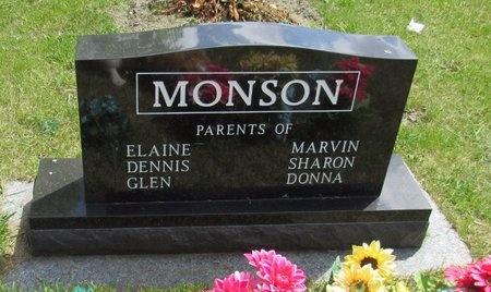 MONSON, REVERSE SIDE - Bottineau County, North Dakota   REVERSE SIDE MONSON - North Dakota Gravestone Photos