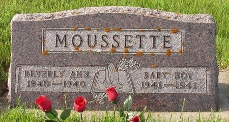 MOUSSETTE, BABY BOY - Bottineau County, North Dakota | BABY BOY MOUSSETTE - North Dakota Gravestone Photos