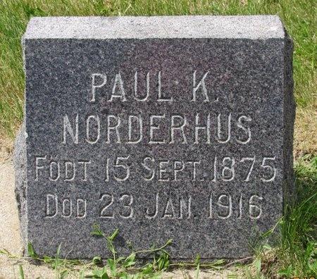 NORDERHUS, PAUL K. - Bottineau County, North Dakota | PAUL K. NORDERHUS - North Dakota Gravestone Photos