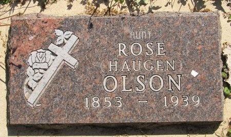 HAUGEN OLSON, ROSE - Bottineau County, North Dakota | ROSE HAUGEN OLSON - North Dakota Gravestone Photos