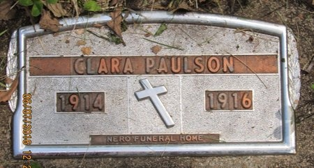 PAULSON, CLARA - Bottineau County, North Dakota | CLARA PAULSON - North Dakota Gravestone Photos
