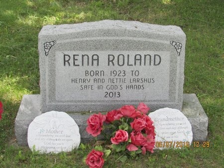 LARSHUS ROLAND, RENA - Bottineau County, North Dakota | RENA LARSHUS ROLAND - North Dakota Gravestone Photos