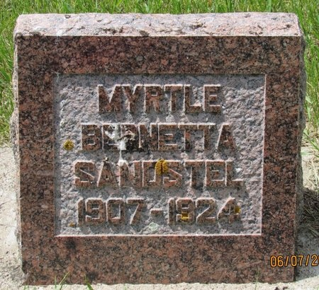 SANDSTEL, MYRTLE BERNETTA - Bottineau County, North Dakota | MYRTLE BERNETTA SANDSTEL - North Dakota Gravestone Photos