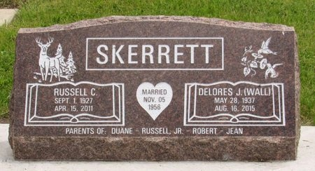SKERRETT, RUSSELL C. - Bottineau County, North Dakota | RUSSELL C. SKERRETT - North Dakota Gravestone Photos