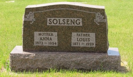 SOLSENG, LOUIS - Bottineau County, North Dakota | LOUIS SOLSENG - North Dakota Gravestone Photos