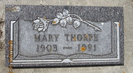 THORPE, MARY - Bottineau County, North Dakota | MARY THORPE - North Dakota Gravestone Photos