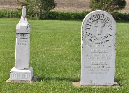 TOUPIN, OSCOR - Bottineau County, North Dakota | OSCOR TOUPIN - North Dakota Gravestone Photos