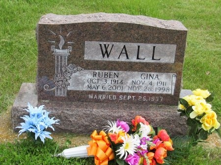 WALL, GINA - Bottineau County, North Dakota | GINA WALL - North Dakota Gravestone Photos