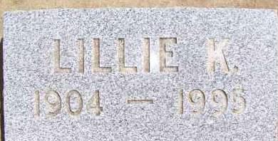 LARKIN, LILLIE K. - Bowman County, North Dakota   LILLIE K. LARKIN - North Dakota Gravestone Photos