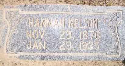 NELSON, HANNAH - Bowman County, North Dakota   HANNAH NELSON - North Dakota Gravestone Photos