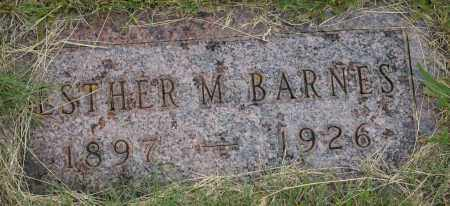 BARNES, ESTHER M. - Burke County, North Dakota | ESTHER M. BARNES - North Dakota Gravestone Photos