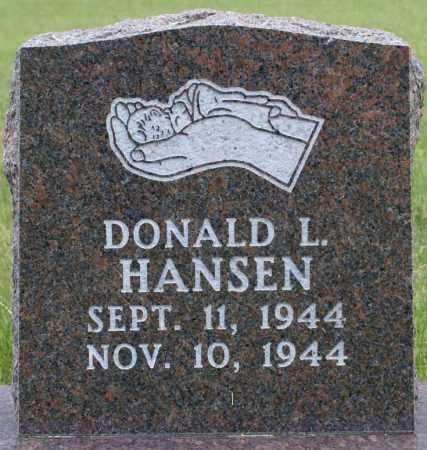 HANSEN, DONALD LESLIE - Burke County, North Dakota | DONALD LESLIE HANSEN - North Dakota Gravestone Photos
