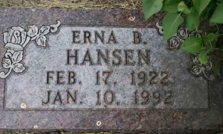 HANSEN, ERNA B. - Burke County, North Dakota | ERNA B. HANSEN - North Dakota Gravestone Photos