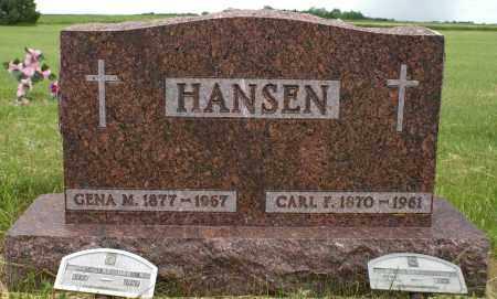 CHRISTENSEN HANSEN, GENA MARGARET - Burke County, North Dakota | GENA MARGARET CHRISTENSEN HANSEN - North Dakota Gravestone Photos