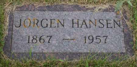 HANSEN, JORGEN - Burke County, North Dakota | JORGEN HANSEN - North Dakota Gravestone Photos