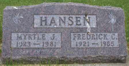 HANSEN, FREDRICK CHALMER - Burke County, North Dakota | FREDRICK CHALMER HANSEN - North Dakota Gravestone Photos