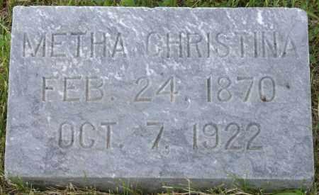JESSEN, METHA CHRISTINA - Burke County, North Dakota | METHA CHRISTINA JESSEN - North Dakota Gravestone Photos