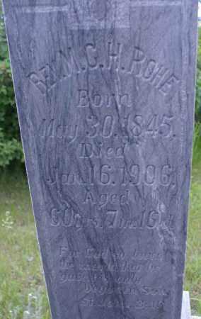ROHE, MADS CHRISTIAN HANSEN - Burke County, North Dakota | MADS CHRISTIAN HANSEN ROHE - North Dakota Gravestone Photos