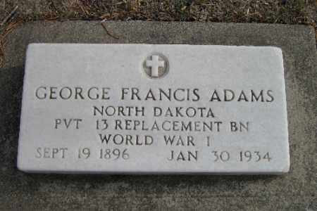 ADAMS, GEORGE FRANCIS - Cass County, North Dakota | GEORGE FRANCIS ADAMS - North Dakota Gravestone Photos