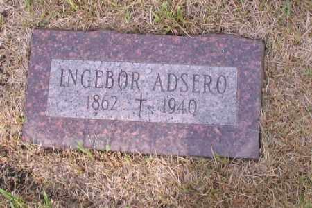 ADSERO, INGEBOR - Cass County, North Dakota | INGEBOR ADSERO - North Dakota Gravestone Photos