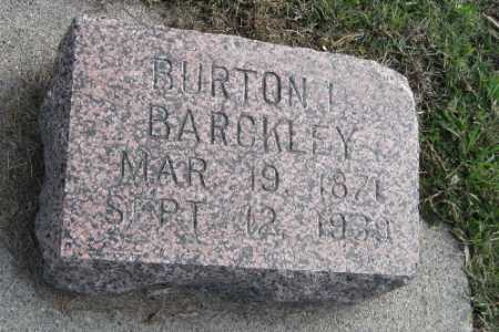 BARCKLEY, BURTON L. - Cass County, North Dakota | BURTON L. BARCKLEY - North Dakota Gravestone Photos