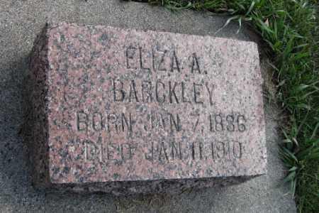 BARCKLEY, ELIZA A. - Cass County, North Dakota | ELIZA A. BARCKLEY - North Dakota Gravestone Photos