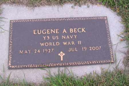 BECK, EUGENE A. - Cass County, North Dakota   EUGENE A. BECK - North Dakota Gravestone Photos