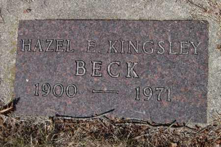 BECK, HAZEL E. - Cass County, North Dakota | HAZEL E. BECK - North Dakota Gravestone Photos