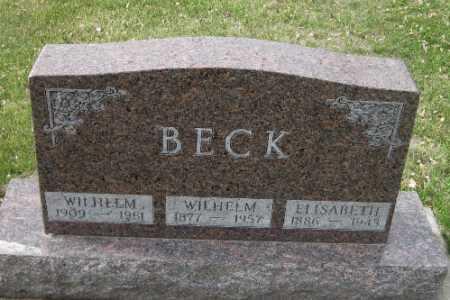 BECK, WILHELM - Cass County, North Dakota   WILHELM BECK - North Dakota Gravestone Photos