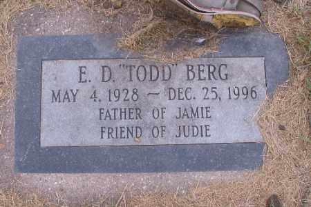 "BERG, E. D. ""TODD"" - Cass County, North Dakota   E. D. ""TODD"" BERG - North Dakota Gravestone Photos"