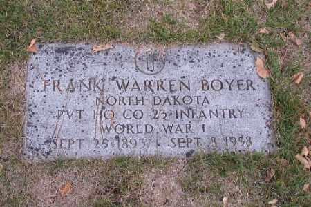 BOYER, FRANK WARREN - Cass County, North Dakota | FRANK WARREN BOYER - North Dakota Gravestone Photos